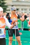 Olympischer Meister Olga Zaitseva Lizenzfreie Stockbilder