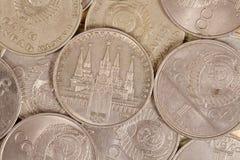 Olympischer Rubel und anderes sowjetisches Rubelmetall Stockbilder