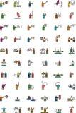 OLYMPISCHER SPORT gefüllte Entwurfsikonen Stockbild