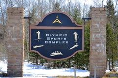 Olympischer Sport komplex im Winter, Lake Placid, NY, USA Lizenzfreie Stockfotos