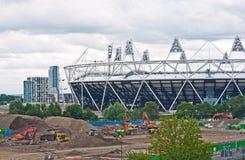 Olympischer Stadionaufbau. lizenzfreies stockfoto