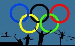 Olympisches Logo und Spiele vektor abbildung