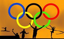Olympisches Logo und Spiele lizenzfreie abbildung