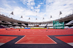 Olympisches Stadion London-2012 stockfotos