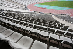 Olympisches Stadion von Montjuic (Barcelona) leeren sich Stockfotografie