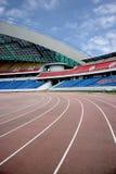 Olympisk åskådarläktare Arkivfoto