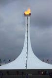 Olympisk brand i olympiskt parkerar av Sochi Fotografering för Bildbyråer