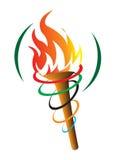 Olympisk fackla Arkivbilder