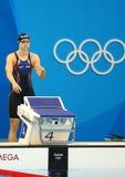 Olympisk mästare Katie Ledecky av Förenta staterna för kvinnornas konkurrensen för 800m fristil av Rio de Janeiro 2016 Royaltyfri Foto