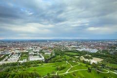 Olympisk park Munich Arkivfoto