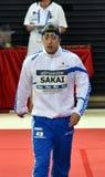 Olympisk silvermedaljörsimmare SAKAI Masato JPN Arkivfoto