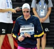 Olympisk simmareEvelyn VERRASZTO HUN Arkivfoton
