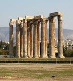 olympisk tempelzeus Royaltyfri Fotografi