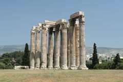 olympisk tempelzeus Royaltyfri Foto