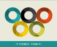 Olympiska cirklar. Arkivbilder
