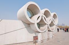 Olympiska cirklar Arkivfoton