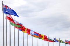 Olympiska flaggor Arkivfoton