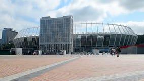 Olympiska nationella sportar komplexa Olympic Stadium, central stadion i Kiev, Ukraina, lager videofilmer