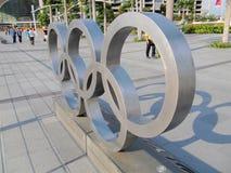 olympiska spelsymbol Arkivfoto