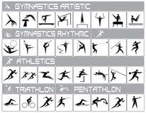 Olympiska sportar vektor illustrationer