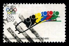 1972 olympiska vinterlekar Arkivfoto