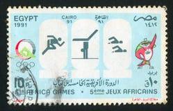Olympiskt emblem royaltyfria bilder