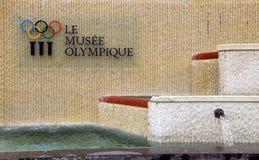 Olympiskt museum i Lausanne, Schweiz Arkivbild
