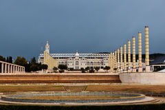 Olympiskt parkera Montjuic, Barcelona, Spanien Royaltyfri Bild
