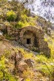 Olympos古老站点,安塔利亚,土耳其 库存照片