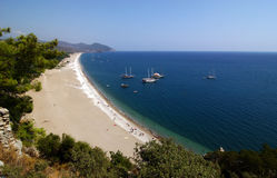 Olympos beach (Lycia) Antalya. Olympos was an ancient city in Lycia. It was situated in a river valley near the coast. Its ruins are located south of the modern Stock Images