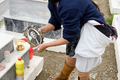 Olympos est un village sur l'île de Karpathos dans le dodecanese en Grèce Photo stock