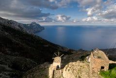 Olympos ist ein Dorf auf der Insel von Karpathos im dodec Lizenzfreie Stockbilder
