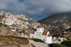 Olympos ist ein Dorf auf der Insel von Karpathos im dodecanese in Griechenland Lizenzfreie Stockbilder