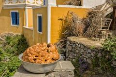 OLYMPOS, KARPATHOS, Grec Pâques Images stock