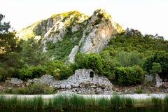 Olympos miasta antykwarskie ruiny w Antalya Zdjęcia Stock