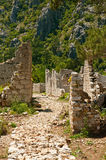 Olympos ruins. Ruins of ancient Lycian town Olympos in Turkey Royalty Free Stock Photos