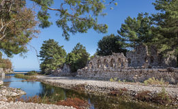Olympos Ruins Stock Image