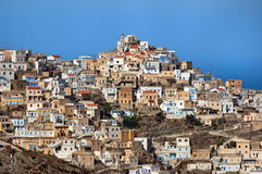 Olympos. Village Olympos in Greek Island of Karpathos Stock Photo