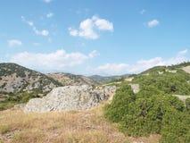 Olympus det högsta berget i Grekland Arkivfoton