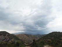 Olympus det högsta berget i molniga Grekland Royaltyfria Foton