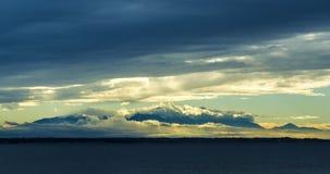OLYMPUS góra W chmury zdjęcia stock