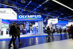 Olympus hall exhibition at Photokina 2012 Royalty Free Stock Images