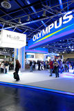Olympus hall at Photokina 2012 Royalty Free Stock Photo
