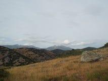Olympus la montaña más alta del comienzo del verano de Grecia Imágenes de archivo libres de regalías