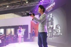 Olympus Model in EXPO Stock Photos