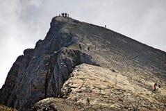 Olympus Mount, reaching the Skala summit stock photo