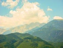 Olympus mountain range. stock photography