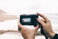 Olympus Stylus photographing beach
