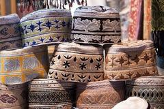 Omán - casquillo de los hombres Imagenes de archivo