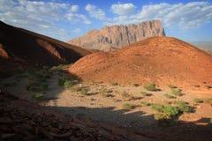 Omán: damm del lecho de un río seco Fotos de archivo